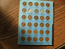 1940'S LINCOLN PENNY'S IN A COIN BOOK PAGE-1942--1950-30 WHEAT PENNY'S