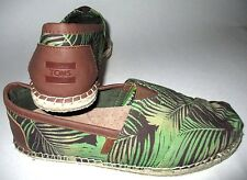 MENS TOMS ESPADRILLES PALMS TROPICAL CASUAL SLIP ON SHOES SIZE 8