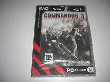 Commandos 3 Destination Berlin PC CD ROM Mad-NEU Versiegelt-Schneller Versand