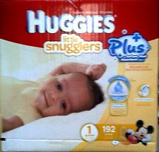 Huggies Little snugglers Nappies SIZE 1  -192  Pack