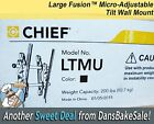 Chief LTMU Black Large Fusion™ Micro-Adjustable Tilt Wall Mount New Unopened Box