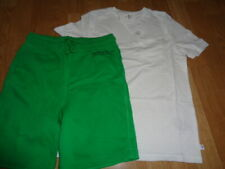 Nwt Gap boys outfit size 8 white one pocket tee top and green shorts