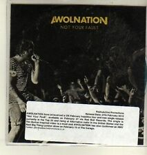 (CW400) Awolnation, Not Your Fault - 2012 DJ CD