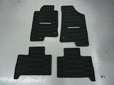06-10 Hummer H3 Floor Mats- All Weather- Ebony- Front & Rear- GM New # 12498903