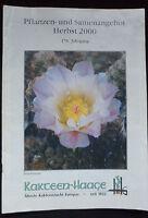 Pflanzen-und Samenangebot CACTUS HAAGE nursery catalogue plants