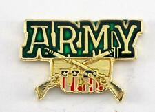 Wholesale Lot of 12 US Army Crossing Rifles USA Flag Lapel Hat Pin Military P805