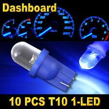 10x Blue T10 W5W 194 168 2825 1-LED Wedge Light Bulb Car Dashboard Side Lamp New