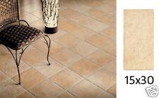 Piastrelle per pavimento rustico effetto cotto sfumato Fiordo Renno 15x30 beige