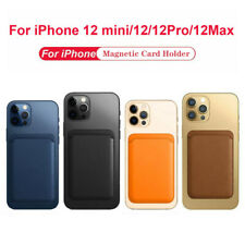 For Apple iPhone 12/12 Pro/Max/12 Mini Phone Card Wallet Holder Leather Magnetic