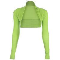 Ladies Viscose Cropped Plain Bolero Ladies Shrug Womens Size UK S/M - L/XL