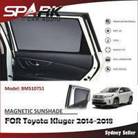 AD MAGNETIC CAR WINDOW SUN SHADE BLIND REAR DOOR FOR TOYOTA KLUGER 2014-2018