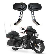 Black deep Edge Cut Rearview Mirror Rear View Side Mirrors For Harley Road Glide