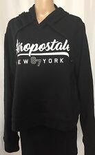 Aeropostale 87 New York Hoodie Juniors Size XL Black Shorter Length Pullover NWT