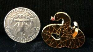 Golden Brown Rattlesnake Vest Hat Tie Enamel Pin NEW