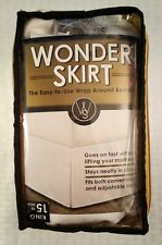 "Wonder Skirt King Size White Wrap Around Bedskirt 76"" x 79"" Split Corner Design"