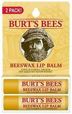 Burts Bees 100% Natural Origin Moisturizing Lip Balm, Beeswax, 2 Tubes in Bliste