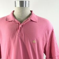 Brooks Brothers Mens Polo Shirt Size Large Pink Collared Cotton Original Fit