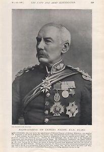 1897 ANTIQUE MILITARY PRINT-  MAJOR-GENERAL SIR CHARLES WILSON K.C.B.,K.C.M.G.