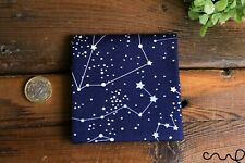 Handmade Unisex Pocket Square Cotton Handkerchief Navy Horoscope Star Wedding Z