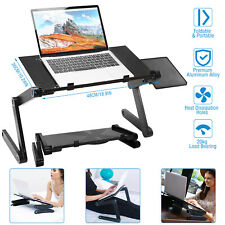 Foldable Laptop Table Tray Desk W/Mouse Board Tablet Desk Stand Bed Sofa Couch