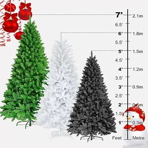 PREMIUM 5FT 6FT 7FT CHRISTMAS ARTIFICIAL COLORADO PINE TREE SPRUCE METAL STAND