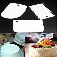 3 Pcs Side Edge Smoother Polisher Sugarcraft Equipment Tool Fondant Icing Cake