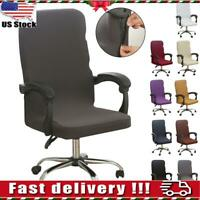 Stretch Computer Office Chair Covers Slipcover Desk Task Rotat Seat Cover USA