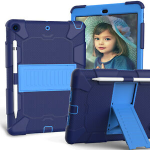 """For iPad 10.2"""" 2019 7th Generation Heavy Duty Case Kickstand Stand Cover Blue"""