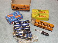 8 Vintage AC/Edison/Bosch/Champion 10 mm Spark Plugs. Collection.