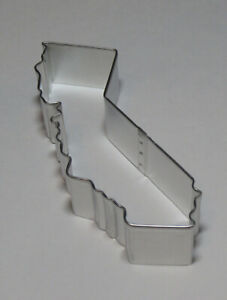 """5"""" California Ca Cookie Cutter Tin Steel Map Outline Shape The Sunshine State"""