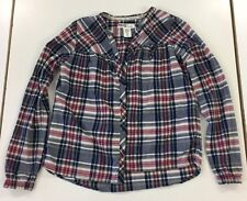 Beautiful Button Down Collarless H&M Girls Check Shirt Age 12-13 Years