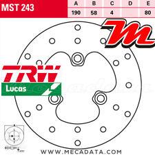 Disque de frein Avant TRW Lucas MST 243 SYM 125 Fiddle 2008+