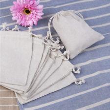 10pcs Burlap Linen Drawstring Jute Sack-Pouch Bag Wedding Favor Jewelry Gift
