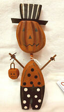 "Primitives By Kathy Halloween Chunky Jack Sitter Wood 6.5"" T"