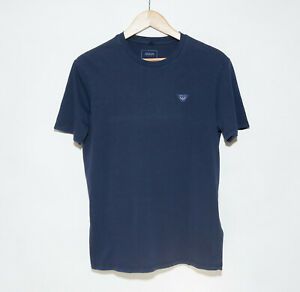 Giorgio Armani Jeans Men's Navy Solid Crewneck T-Shirt size M Jersey Worn Look