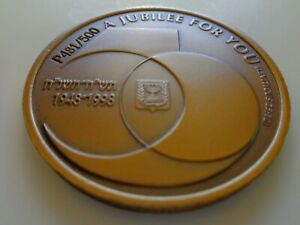 Israel Government Medal Issued for Parker Israel Jubilee Duofold Uni Face RARE