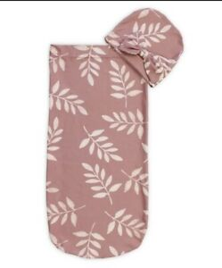 NEW Cutie Cocoon Swaddle Set Baby Blanket and Headband Baby Girl Gift Set