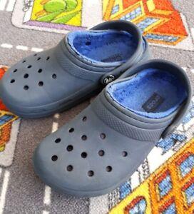 Original Crocs Winter Gr.29 / C 12 blau mit Fell