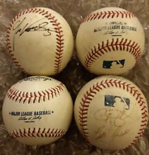 4x LOT Rawlings Official Major League Baseballs MLB 2 Signed by ??? GD+ free shp