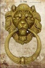 Collectables! Chinese Old Bronze Fierce Fu Foo Dog Lion Head Door Knocker