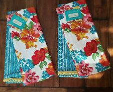 "The Pioneer Woman Set of 4 Wildflower Whimsy 16"" X 28"" Kitchen Towels NWT"