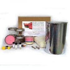 Deluxe DIY Large Mason Jar Soy Candle Making Kit - Makes 6 8oz Candles