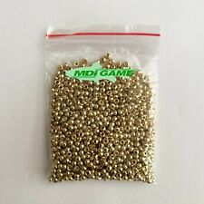 1000 MDI Game Quality Gold (Brass Plated) beads for Fly Tying 4mm