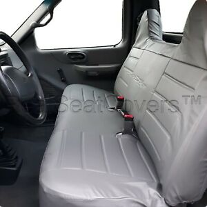 F23 PUGR Ford F-Series F150 Front Bench PU Leather Gray High Back Seat Cover
