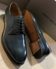 New $1595 Giorgio Armani Mens Leather Oxfords Shoes Green 11 US/10 UK X2C481