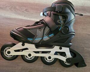 GoldCross Inline Adult Skates Rollerblades As New Black Blue Size 7 GXC300