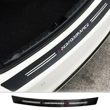 Car Carbon Fiber Bumper Trunk Guard Decor Sticker For BMW 1/2/3/4/5/6/7/Z4/M3/M4