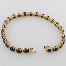 9 Carat Excellent Cut Yellow Gold Fine Diamond Bracelets