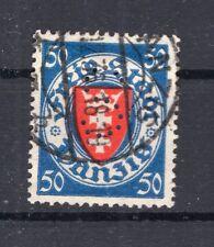Danzig Firmenlochung Perfin Postmarked (A4384