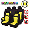Universal Car Seat Covers Yellow Black Steering Wheel Cover For Honda Hyundai